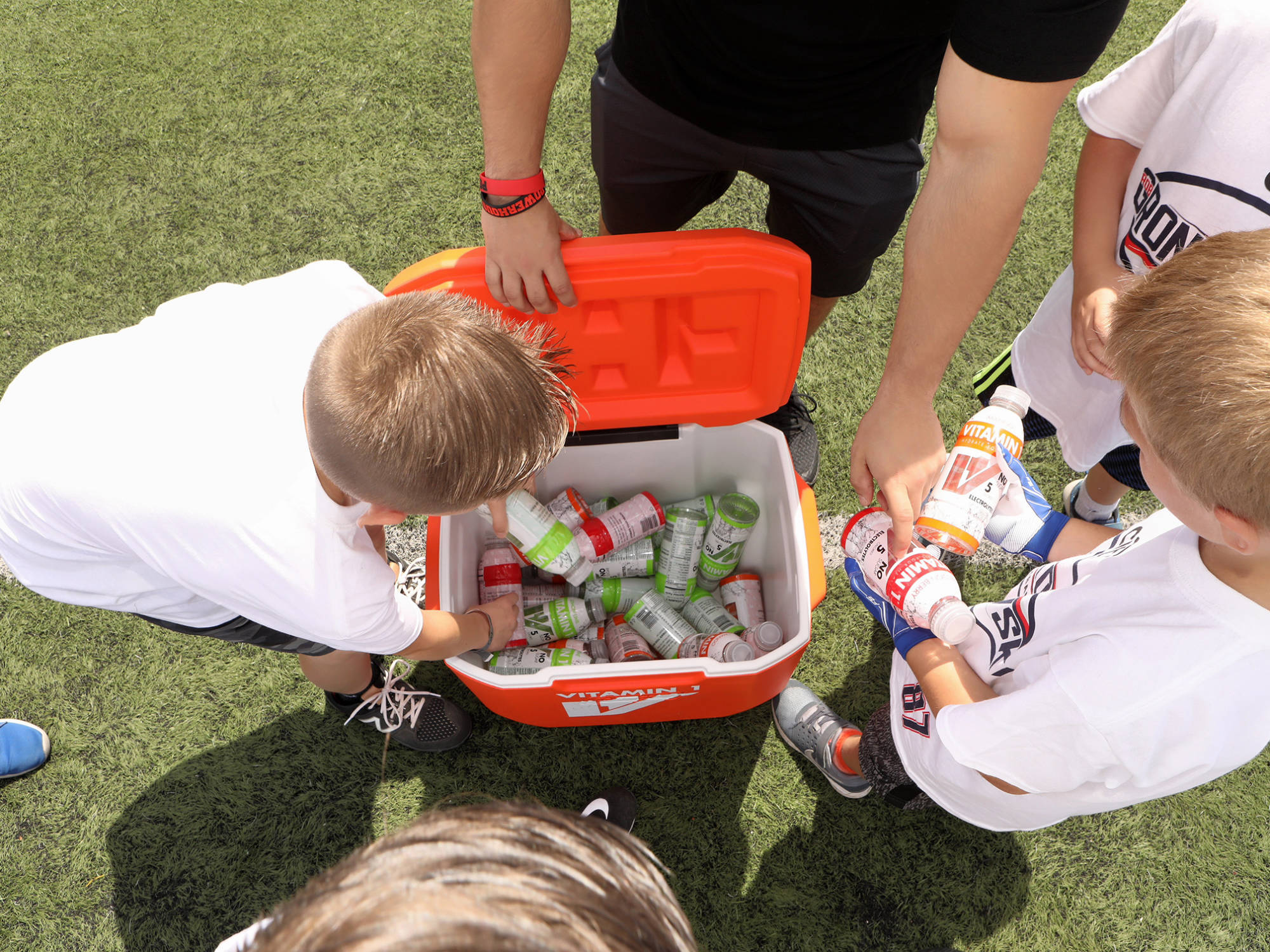 Vitamin 1 sponsor of Gronkowski Football Clinic 19