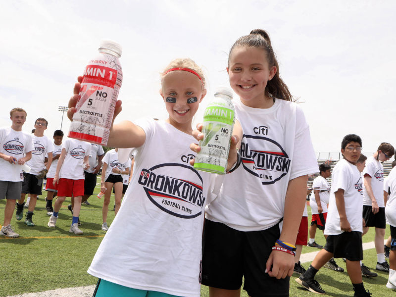 Vitamin 1 sponsor of Gronkowski Football Clinic 5