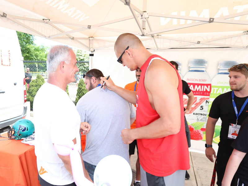 Vitamin 1 sponsor of Gronkowski Football Clinic 2