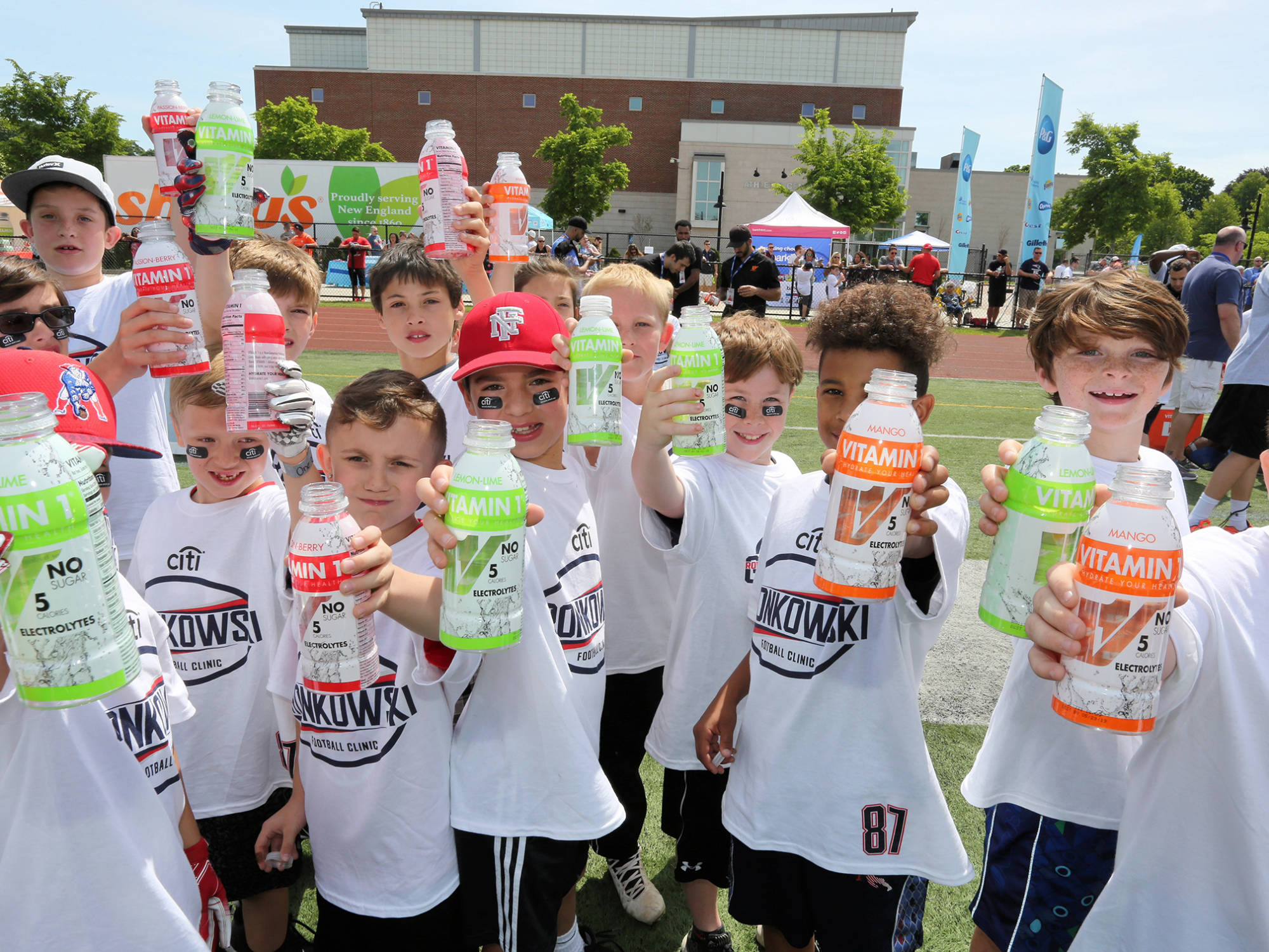 Vitamin 1 sponsor of Gronkowski Football Clinic 20