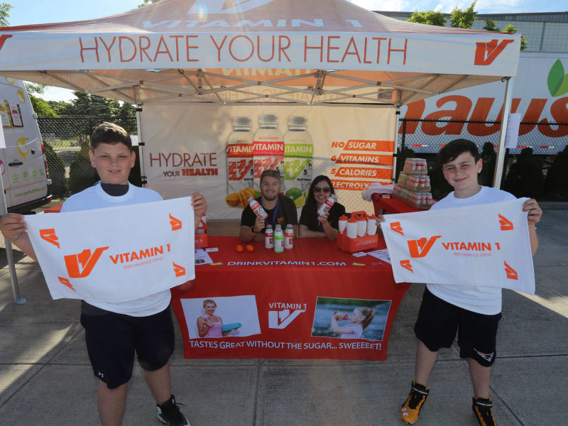 Vitamin 1 sponsor of Gronkowski Football Clinic 11